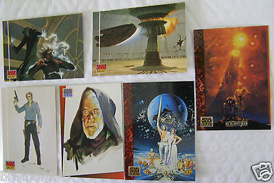 STAR WARS GALAXY Series One The Design of Star Wars 1993 Topps Cards Lot of 6