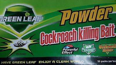 Powder Green Leaf Cockroach Roach Killing Bait Effective Miraculous Insecticid k