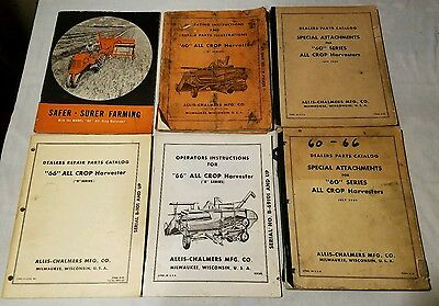 Allis Chalmers 60 all crop harvester manuals