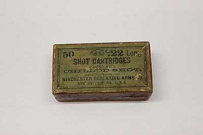 Winchester .22 Long Shot Cartridges Empty 2pc Box Scarce Box
