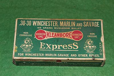 Remington UMC .30-30 Winchester, Marlin and Savage Empty Green Express Train Box