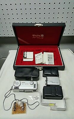 Vtg MINOLTA 16 MG SPY KIT Camera  w/ Original Case in Box & Paperwork