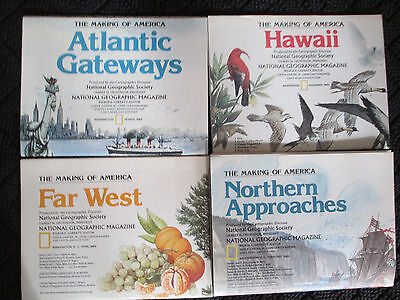 LOT OF 4 Vintage National Geographic Maps Hawaii Far West Atlantic 27.25x20.5