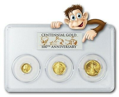 2016-W Gold Centennial 3-Coin Set -  PCGS SP70...While supply lasts.  NEW PRICE!
