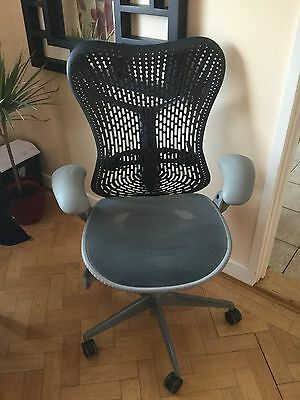 Herman Miller Mirra Chair Grey Seat Black Back