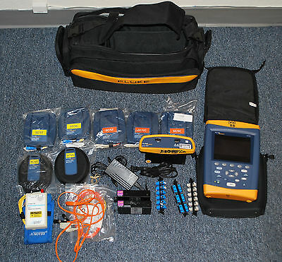 Fluke Networks Optifiber OF-500 Fiber Optic Analyzer Kit Lot - OFTM5611 OFTM5631