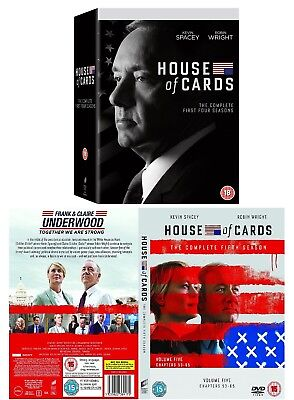 HOUSE OF CARDS 1-4+5 (2013-2016) US Political Drama Seasons Series R2 DVD not US