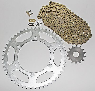 Yamaha 1999-14 Yz250 / 1999-01 Wr400F Gold O Ring Chain And Sprocket 14/48 114L