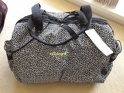 Lululemon Extra Mile Duffel Bag Tote Miss Mosaic Black White Speckled MMOS/BLK