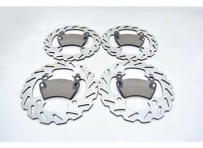 2010-2014 Polaris 800 Ranger 6X6 Front And Rear Sport Rotors And Brake Pads