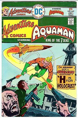 ADVENTURE COMICS #442 - Jim Aparo AQUAMAN Art!  SEVEN SOLDIERS!  F+ (6.5)  1975