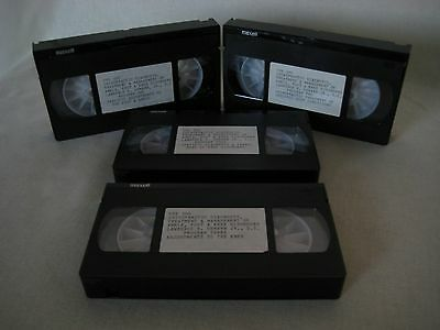 Chiropractic diagnosis TREATMENT ANKLE FOOT KNEE  4 VHS Tapes Lawrence E. Demann