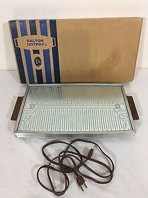 NEW Vintage Salton Electric Hot Tray Hotray Hot Plate Food Warming H-120W