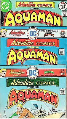 ADVENTURE COMICS 443 444 451 ALL APARO AQUAMAN! Ocean Master! MARTIAN MANHUNTER!