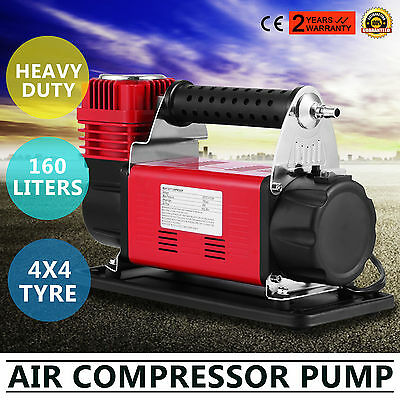 Portable DC 12v Air Compressor 4x4 Tyre Pump Single Stage 150PSI Electric