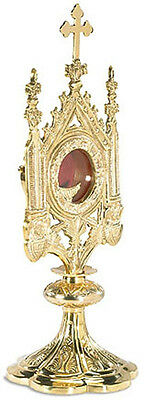 """15""""  Monstrance Budded Cross Top with Removable Luna - Free Shipping"""