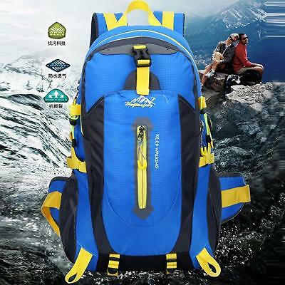 Waterproof  40L Outdoor Sports Backpack Travel Hiking Camping Rucksack Bike Bag