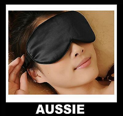 SLEEPING EYE MASK ~ 100% Pure SILK Blindfold Travel Relax Sleep Soft Women ~ NEW