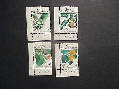 2-1988   -Cocos   Island -Floral  Definitives  4 Stamps  Series 1--Mint  -Mnh-A1