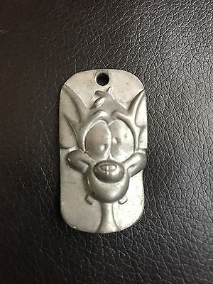 WARNER BROS Animanics Pinky And The Brain Pewter DOG TAG CHARM