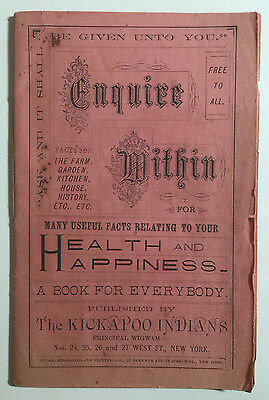 Many Useful Facts Relating To Your Health & Happiness, Kickapoo Indians, NY 1885