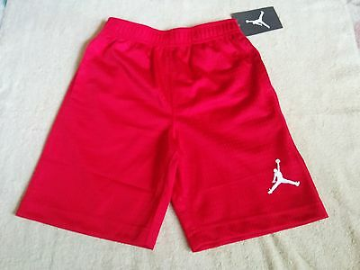 NWT Nike JUMPMAN Boys Pockets Red Shorts Pants size 5