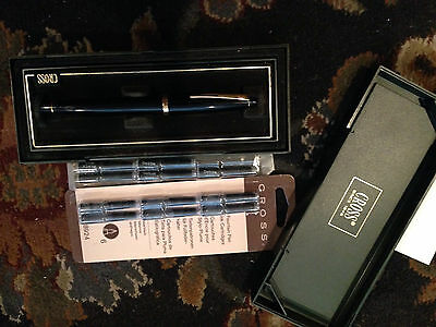Cross Fountain Pen with Extra Genuine Ink Cartridge Refills