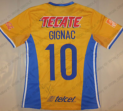 2017 TIGRES UANL signed ADIDAS jersey 100% Authentic autograph #10 ANDRE GIGNAC