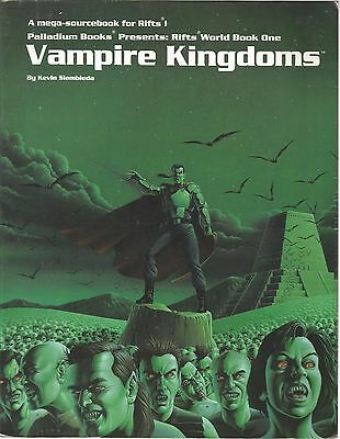 RIFTS World Book 1 VAMPIRE KINGDOMS by Kevin Siembieda  RPG role playing game PB
