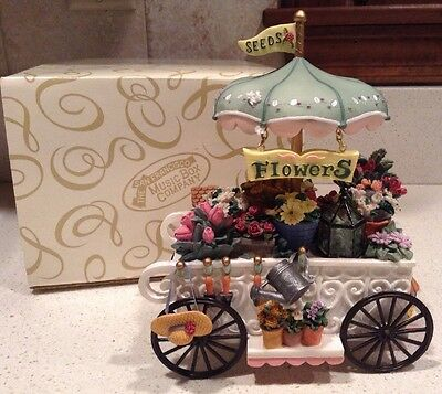 Victorian Flower Cart Figurine San Francisco Music Box Company Somewhere in Time