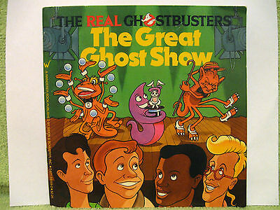 GHOSTBUSTERS BOOK Great Ghost Show VINTAGE 1987 Cartoon EGON RAY STANTZ Slimer