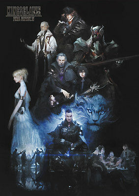 Final Fantasy 15 XV KINGSGLAIVE 4D Clear Poster A2 Movie Limited NFS Game F/S