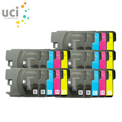 25 LC980 LC1100 Ink Cartridge for Brother MFC 990CW 255CW 490CW 790CW