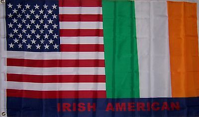 NEW 3ftx5ft USA IRELAND U.S. IRISH AMERICAN FLAG