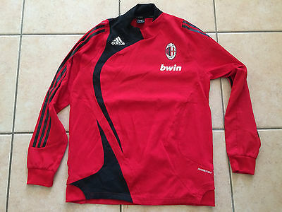 Maillot Entrainement Adidas Milan Ac Ml Rouge Training Red Shirt