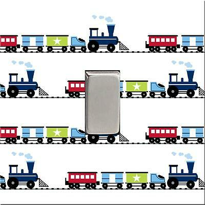 Brand New - Steam Trains Acrylic Light Switch Cover Childrens Boys Bedroom