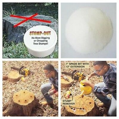 Stump Remover - Stump tree out, Speeds decomposition for easy removal