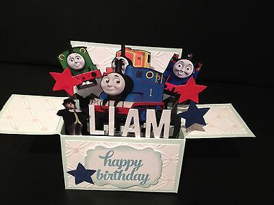 Handmade card, 3D birthday Card in a box - Custom made PERSONALISED