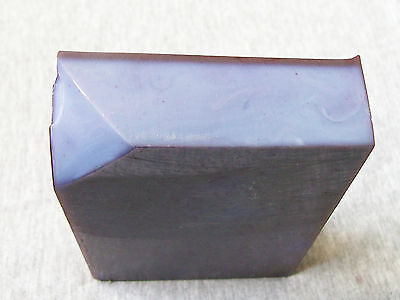 Vintage Cherry Red Cover & Blue Inside Amber Bakelite Catalin Dice Block Part