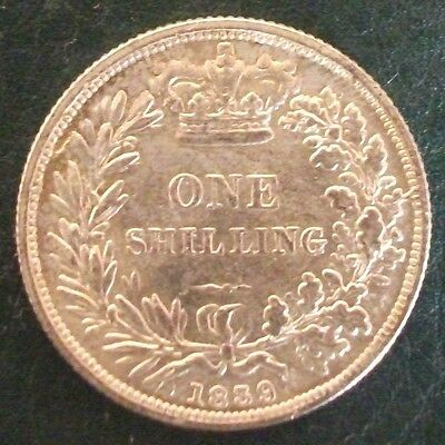 1839 Victoria Shilling, Copy, (FREE UK POSTAGE AVAILABLE)
