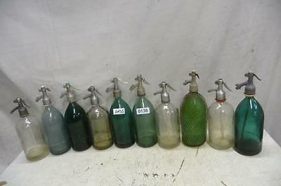 0136. 10 alte Sodaflaschen Siphonflasche Old soda siphon seltzer