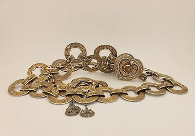 Antique  Perfect Silver Filigree Gold Plated Ottoman Anatolian Strong  Belt