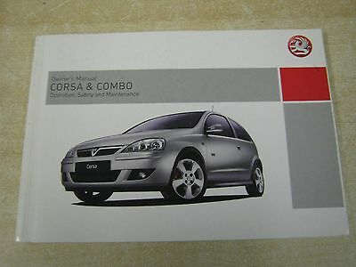 Vauxhall Corsa And Combo Owners Manual Handbook  2004-2008