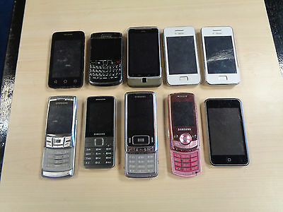 Job Lot 9 x Mobile Phones & 1 x iPod - Faulty / Spares or Repairs