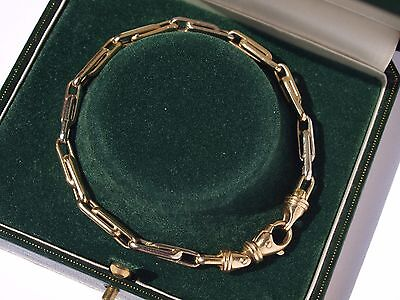 14ct 585 yellow white gold bracelet