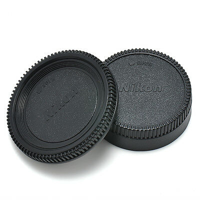 2X Body Front + Rear Lens Cap Cover For Nikon AF AF-S Lens DSLR SLR Camera HOT