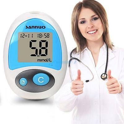 Sannuo Glucose Meter Stable Blood Sugar Test Machine with Leather Case UK