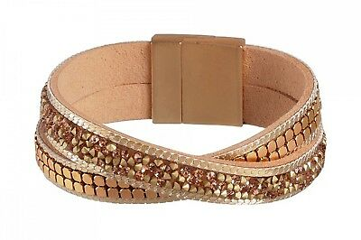 Tamaris Bracelet Pia Leather Gold