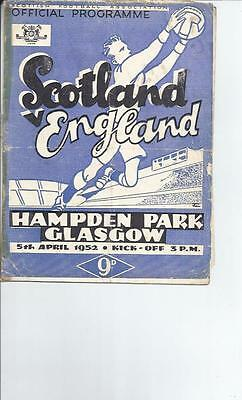 Scotland v England Football Programme 1952