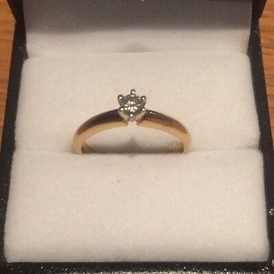 Solid Gold (18ct) Diamond Ring (size M) RRP $599